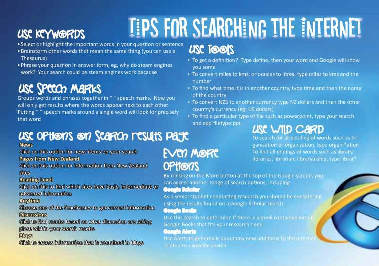 Tips for Searching the Internet Senior