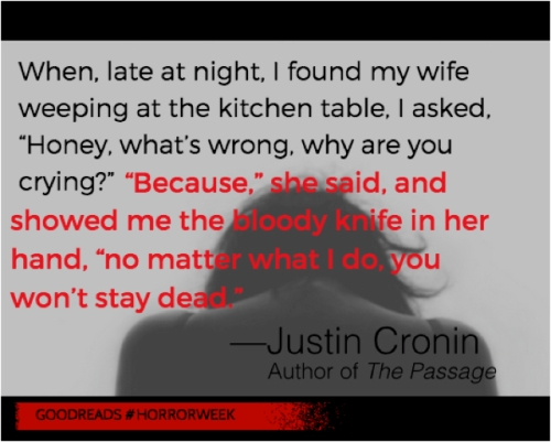 Two sentence horror Justin Cronin
