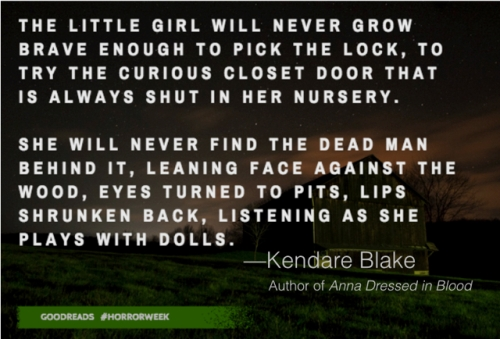 Two sentence horror Kendare Blake