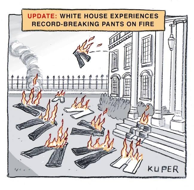 Whitehouse Pants on Fire Cartoon
